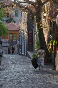 Molivos' un arka sokağı