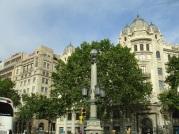 Barcelona cadde görüntüsü