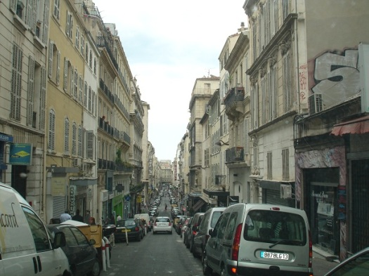 Marsilya' da dar sokaklar