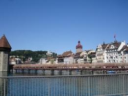 Luzern tarihi tahta köprü