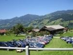İsviçre Alplerinde piknik