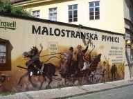 Prag' da duvar boyama sanatı