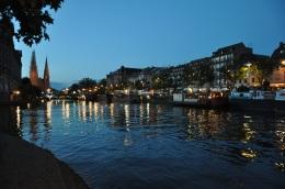 Strasbourg' da akşam oluyor