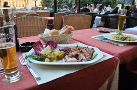 Verona' da akşam yemeği