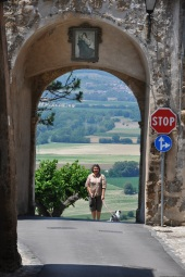 Perugia yolunda Otricoli köyü girişi