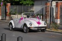 Pisa' da düğün arabası