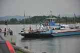 Rhein nehri üzerinde Fransa-Almanya arası feribot seferi