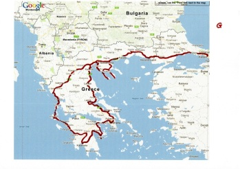 Yunanistan turu yol haritası