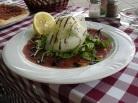 Peşte' de Carpaccio tabağı
