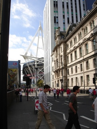 Cardiff sokakları