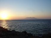 Gün batarken Semadirek adası