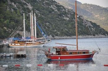 Alman koyunda tekneler