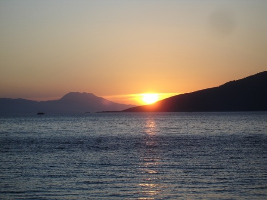 Bodrum, günbatımı