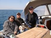 Teknede kaptanımızla...