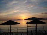 Sea Garden' da günbatımı