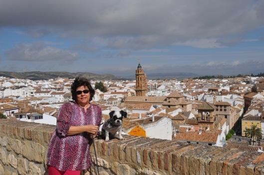 Kaleden Antequera şehrinin görüntüsü