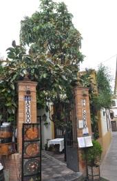 Bir lokantanın kapısı