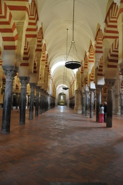 Cordoba Katedralinin içinde sütunlar