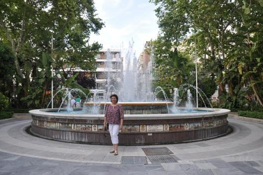 Alameda park ve fıskiyeli havuzu