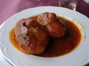 Asturias soslu patatesi