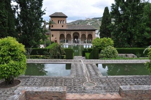 Partal Palace' ın bahçesi