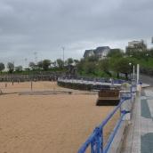 Santander körfezine bakan sahiller