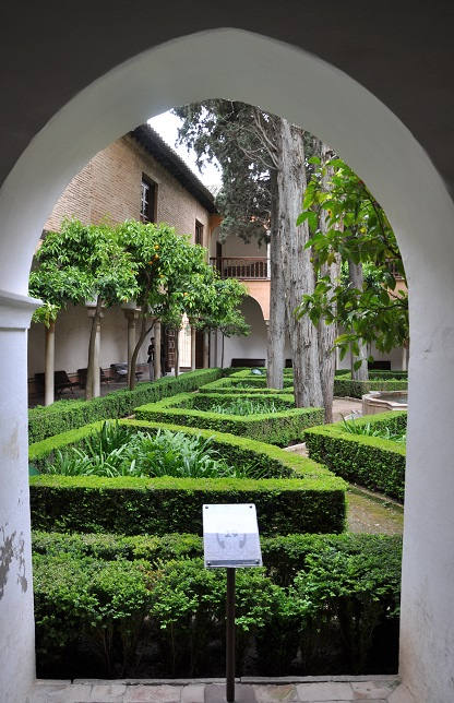 Sarayın iç bahçesi