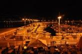 Gece Menton marinası