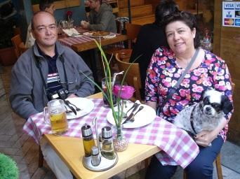 La Rambla'da yemek molası