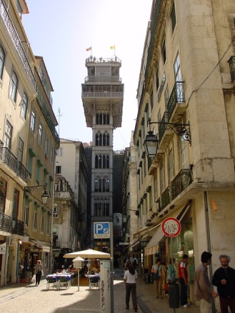 Lizbon yangın gözetleme kulesi (Santa Justa asansörü)