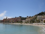 Menton plajı