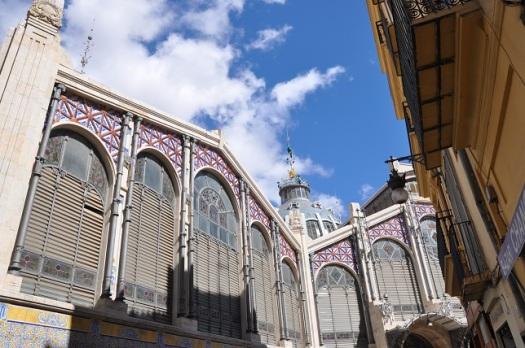 Mercado Central yan cephesi