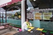 Montpellier yolunda yemek molası