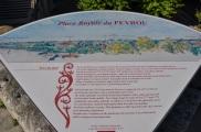 Peyrou tanıtım plaketi