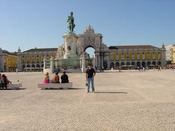 Praça do Commercio ve Kral 1. Jose heykeli