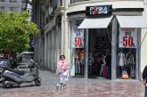 Valencia alışveriş caddesinde