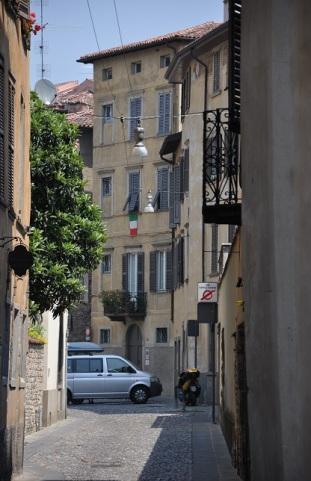 Bergamo tarihi sokakları