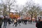Leicester Meydanında yılbaşı hazırlığı