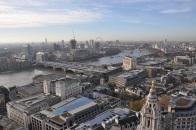 St.Paul's Katedrali tepesinden Londra