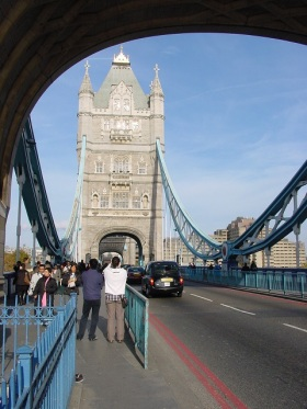 Tower Bridge üzerinde