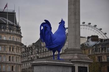 Trafalgar Meydanı'nda yılbaşı horozu