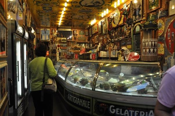 Verona'da dondurmacı