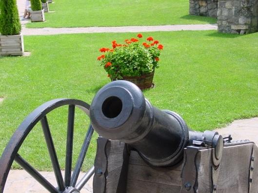 Esztergom kalesinin bahçesi
