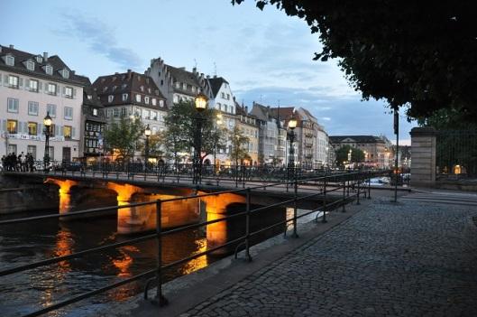 Güneş batarken Strasbourg