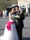 Pisa' da yeni evli çift
