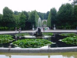 Schonbrunn bahçe havuzu