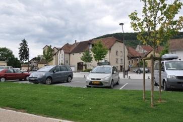 Besancon yakınında bir yerleşim