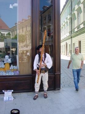 Bratislava`da müzisyen