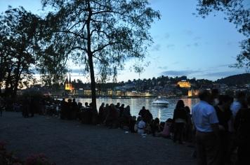Gün batarken Luzern