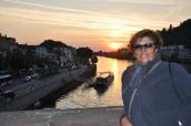 Eski köprüde güneşi batırma